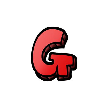 cartoon doodle letter g 일러스트
