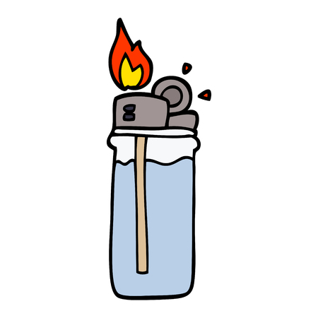 encendedor desechable de dibujos animados doodle Ilustración de vector
