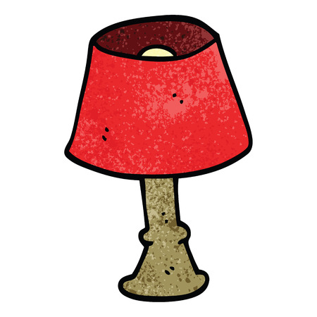 cartoon doodle house lamp Standard-Bild - 110713880