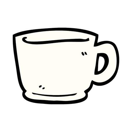cartoon doodle tea cup