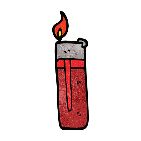 cartoon doodle disposable lighter Banco de Imagens - 110713937