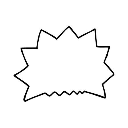 line drawing cartoon big  bang explosion Ilustração