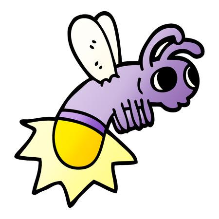 cartoon doodle glow bug