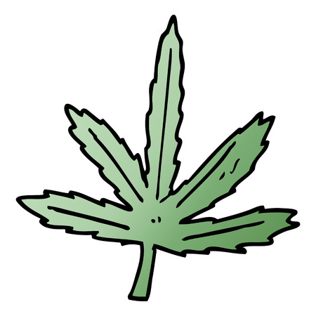 cartoon doodle marijuana leaf