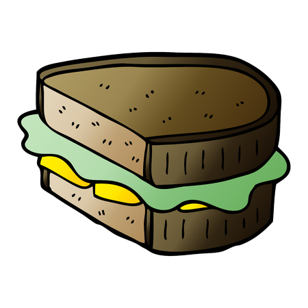 cartoon doodle loaded sandwich