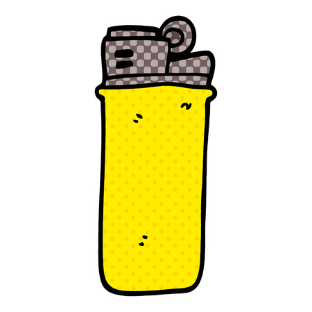 cartoon doodle disposable lighter 向量圖像