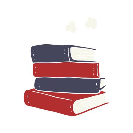 flat color illustration of stack of books Illustration