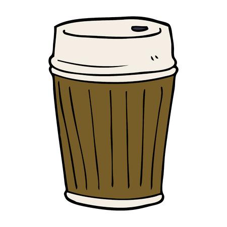 cartoon doodle coffee cup