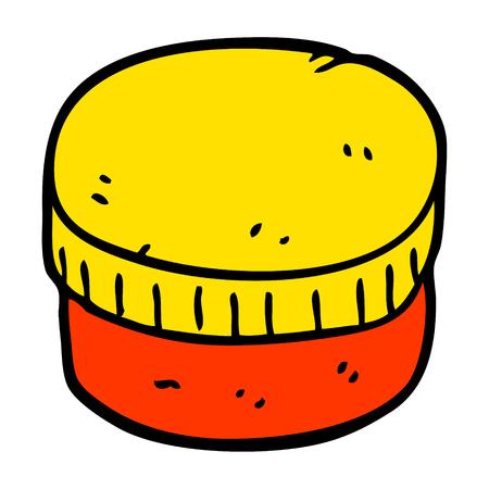 cartoon doodle moisturizer jar Ilustrace