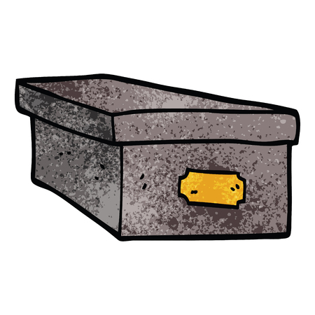 cartoon doodle office filing box