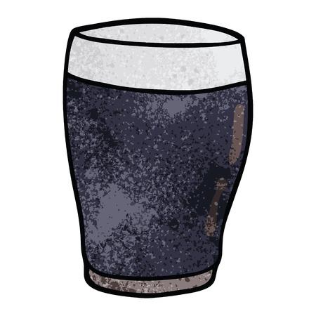 cartoon doodle pint of stout Ilustrace