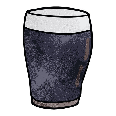 cartoon doodle pint of stout Illustration