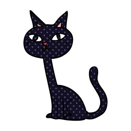 cartoon doodle cat