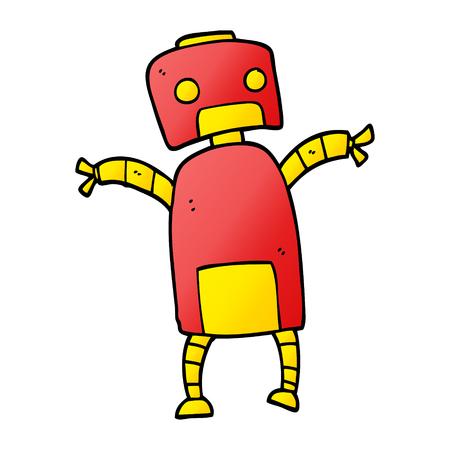 cartoon doodle robot dancing