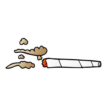 cartoon doodle lit joint Illustration
