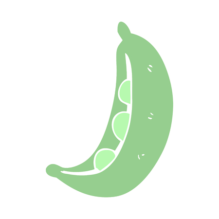 flat color illustration of peas