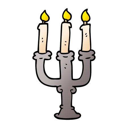 kreskówka doodle upiorne świece