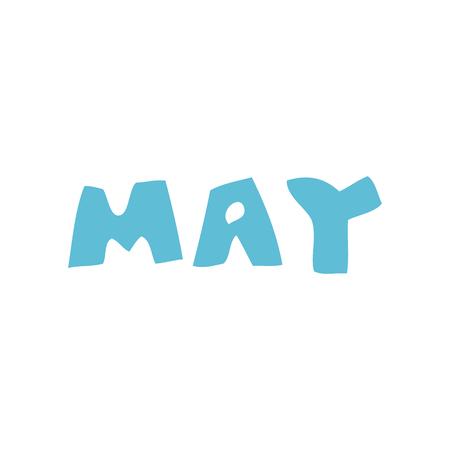 cartoon doodle month of may Illusztráció