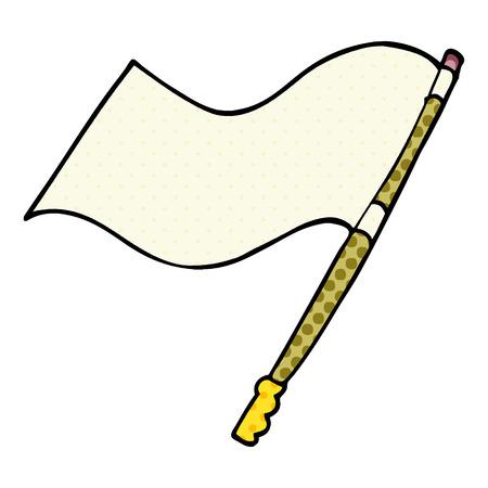 cartoon doodle flag Stock Illustratie