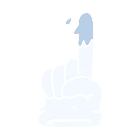 cartoon doodle medical glove 일러스트