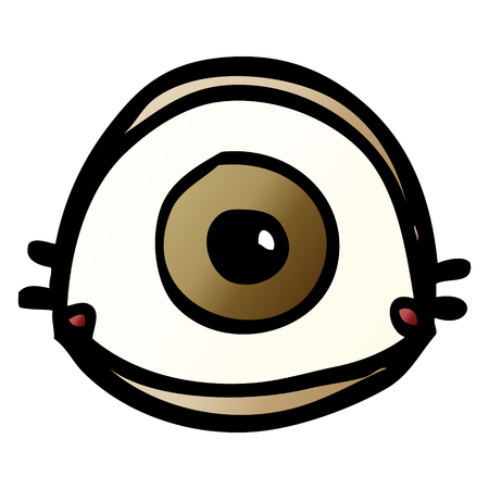 cartoon doodle brown eye