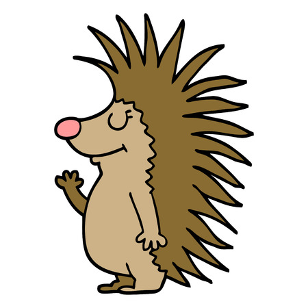 cartoon doodle spiky hedgehog Archivio Fotografico - 110714722