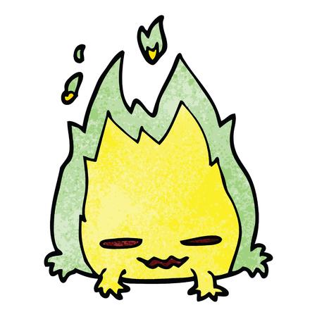 cartoon doodle fire demon Illustration