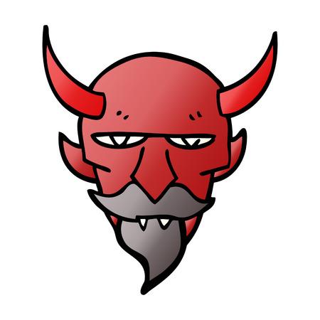 cartoon doodle devil face