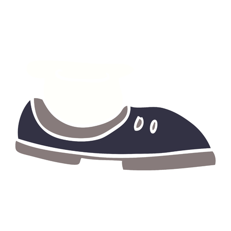 cartoon doodle shoe with sock Ilustrace