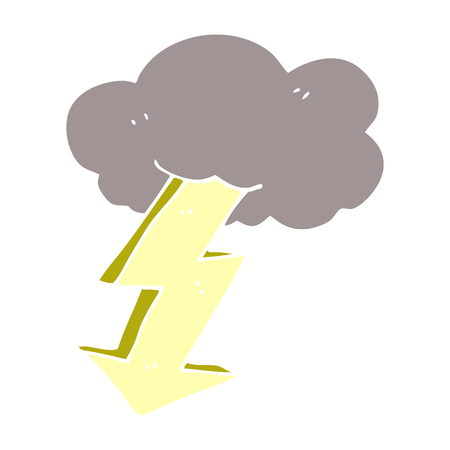 cartoon doodle lightning bolt