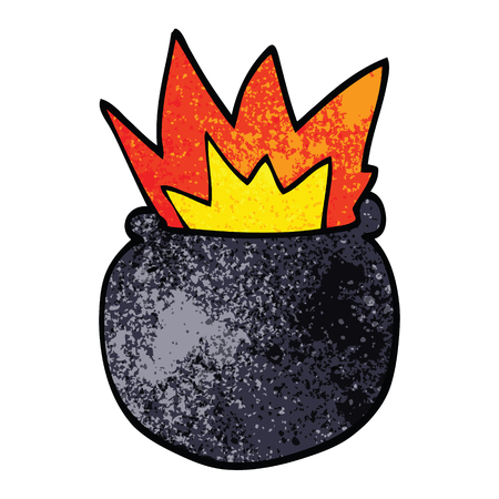 cartoon doodle exploding cauldron