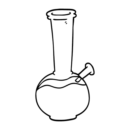line drawing cartoon bong