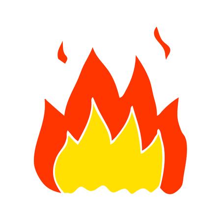 cartone animato scarabocchio fuoco ardente Vettoriali