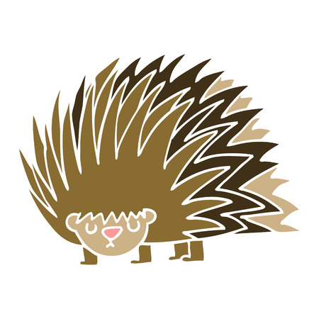 cartoon doodle spiky hedgehog 스톡 콘텐츠 - 110702653