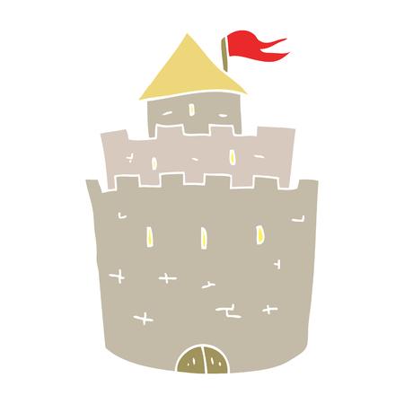 flat color illustration of castle