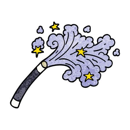 cartoon doodle magicians wand Ilustração