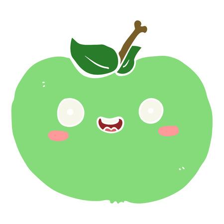 flat color style cartoon apple 스톡 콘텐츠 - 110716167