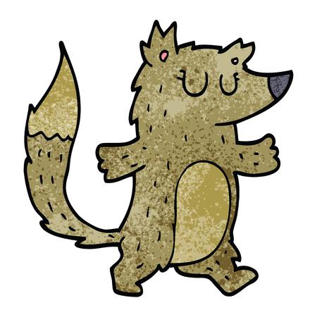 cartoon doodle wolf