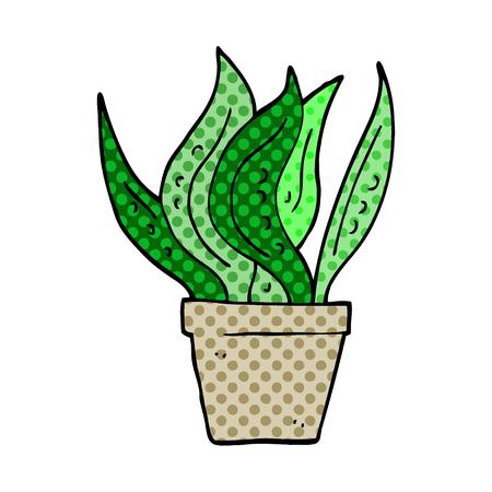cartoon doodle house plant Archivio Fotografico - 110772686