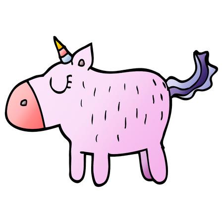 cartoon doodle cute unicorn