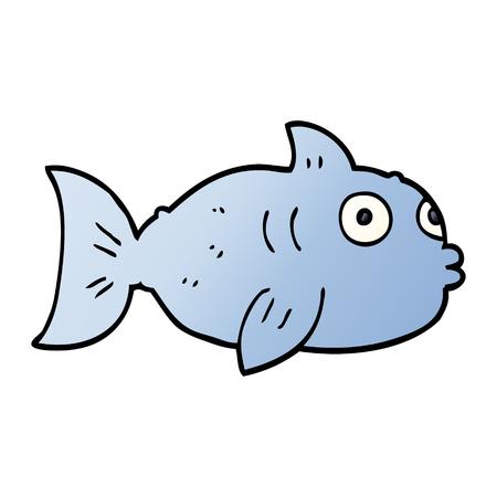 cartoon doodle fish