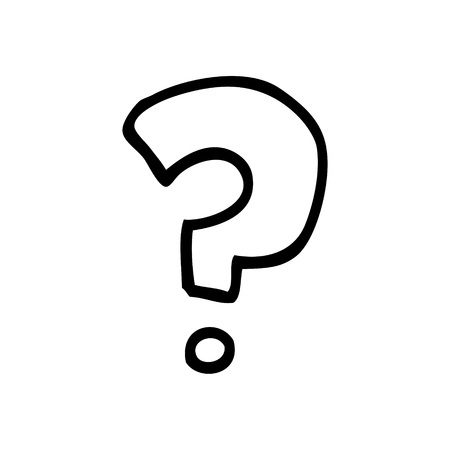 line drawing cartoon question mark Illustration