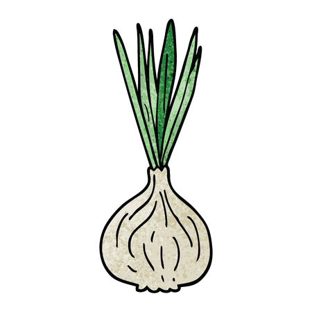 cartoon doodle sprouting onion Illusztráció