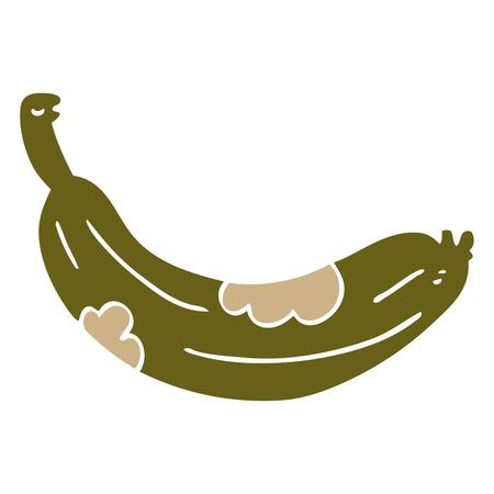 cartoon doodle rotten banana