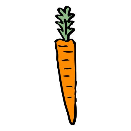 cartoon doodle doodled carrot