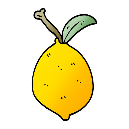cartoon doodle organic lemon Foto de archivo - 110773012