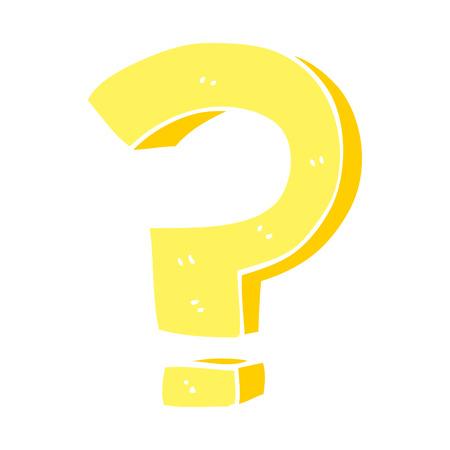punto interrogativo scarabocchio cartone animato