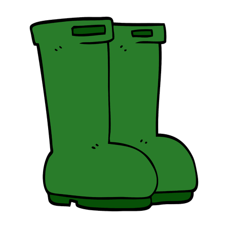 cartoon doodle wellingtons