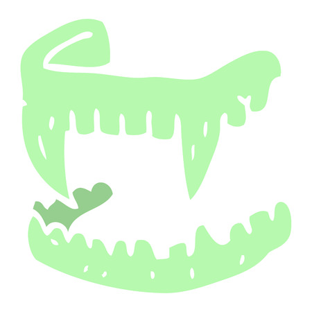 cartoon doodle vampire fangs  イラスト・ベクター素材
