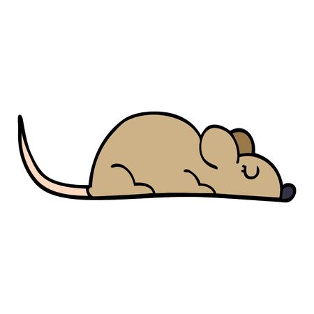 cartoon doodle little mouse Illustration